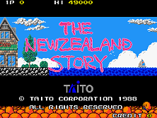 New Zealand Story, The title screen