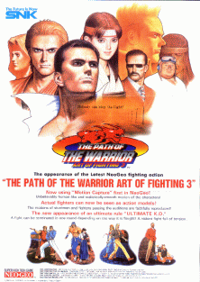 Art of Fighting 3 promotional flyer