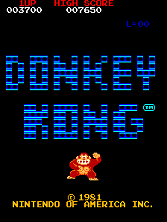 'Donkey Kong' title screen
