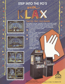 Klax promotional flyer