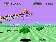 Space Harrier gameplay screen shot