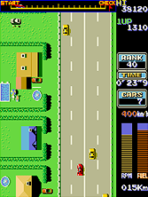 Road Fighter gameplay screen shot