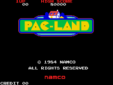 Pac-Land title screen