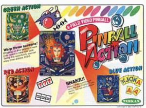 Pinball Action promotional flyer