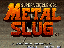 Metal Slug title screen