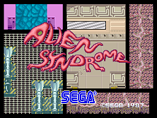 Alien Syndrome title screen