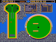 Mini Golf gameplay screen shot