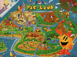 Pac-Land promotional flyer