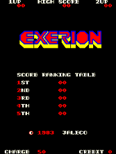 Exerion title screen