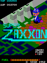 Super Zaxxon title screen