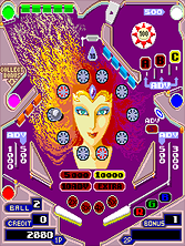 Pinball Action gameplay screen shot