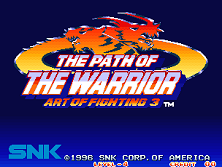 Art of Fighting 3 title screen