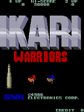Ikari Warriors title screen