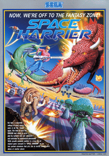 Space Harrier promotional flyer