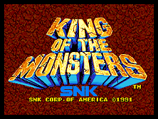 King of the Monsters title screen