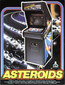 'Asteroids' promotional flyer