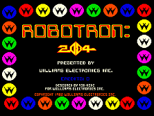 'Robotron 2084' title screen