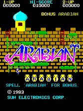 'Arabian' title screen